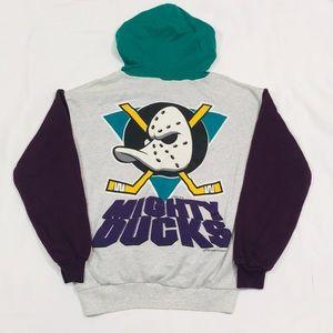 Vintage Kids 1995 Anaheim Mighty Ducks Hoodie